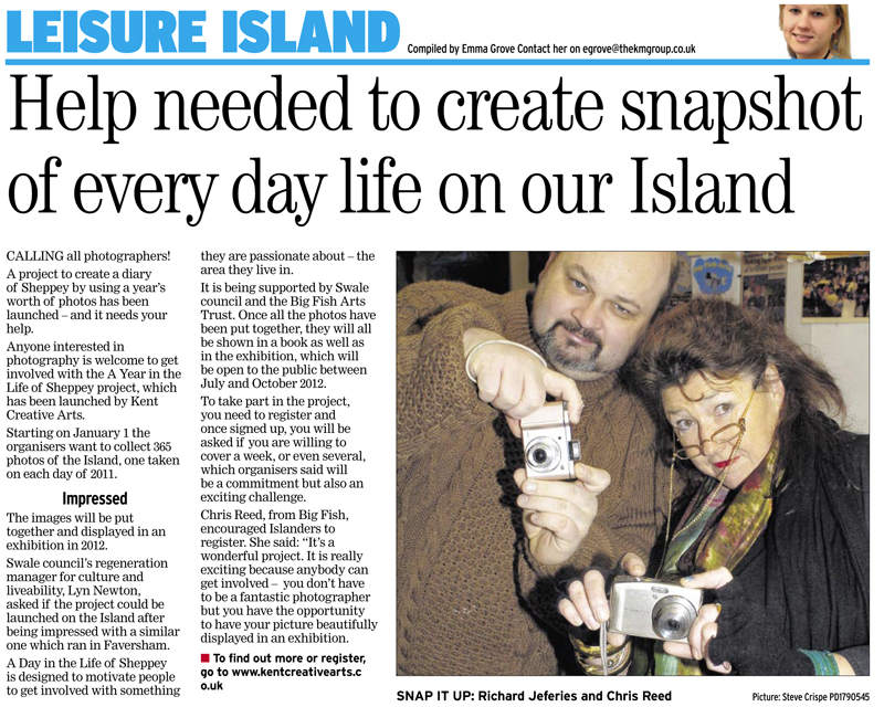 Times Guardian   9th December 2010   A Year in the Life of Sheppey