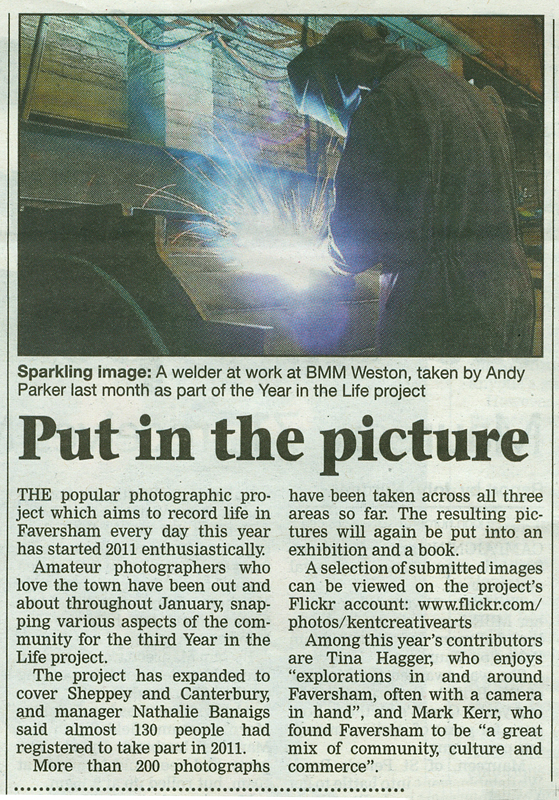 Faversham Times | 3rd February 2011  | A Year in the Life of Faversham