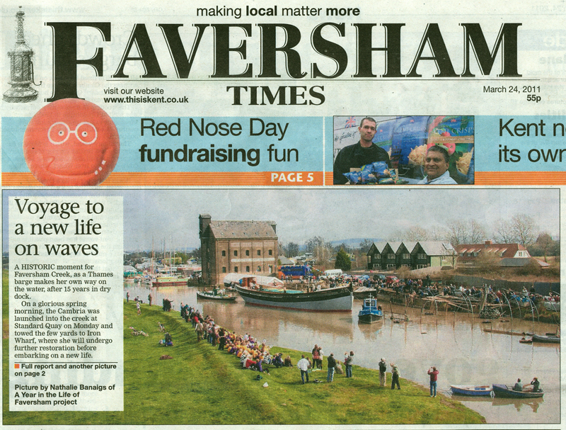 Faversham Times   24th March 2011    A Year in the Life of Faversham
