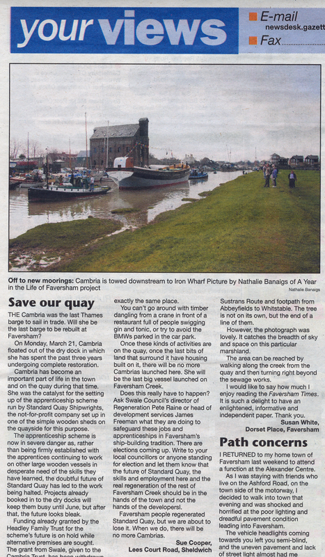 Faversham Times   31st March 2011    A Year in the Life of Faversham