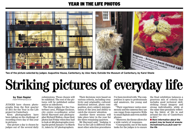 Kentish Gazette Canterbury | 28th April 2011 | A Year in the Life of Canterbury