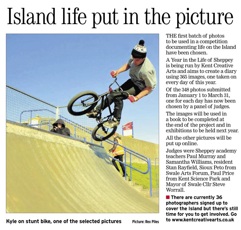 Sheerness Times Guardian   28th April 2011   A Year in the Life of Sheppey