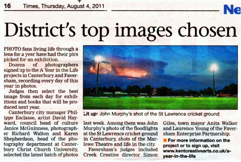 Canterbury Times   4th August 2011