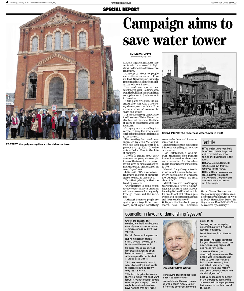 Sheerness Times Guardian   5th January 2012