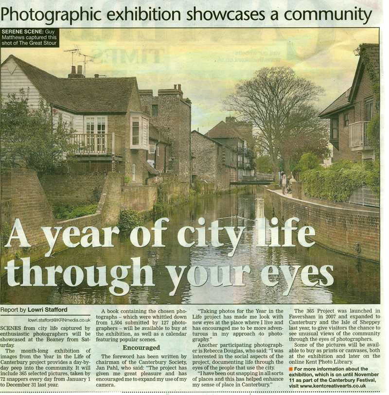 Canterbury Times   10th October 2012