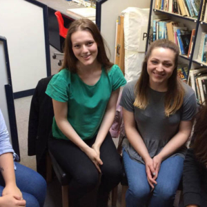 Kent Creative Show #49 – Tuesday 6th June 2017 – Liz Bylett (Body painter) – Sophie, Philippa and Francesca, students at the University of Kent.