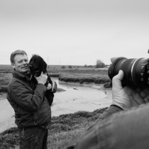 Jonathan Neame and Peter Smith at Oare Marshes